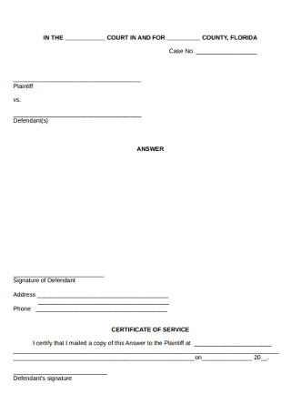 Eviction Case Notice Form