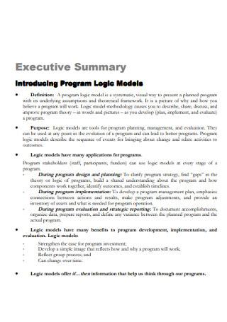 Executive Program Logic Summary