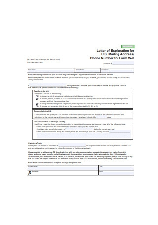 Explanation Letter Form