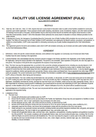 Facility Use License Agreement