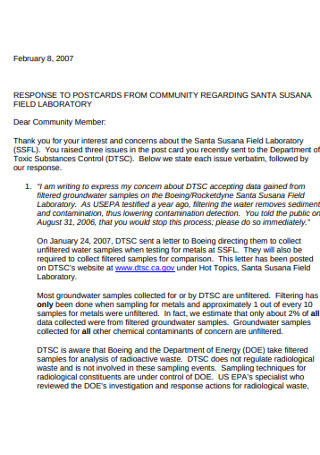 Field Laboratory Community Recommendation Letter