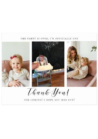 First Birthday Photo Card