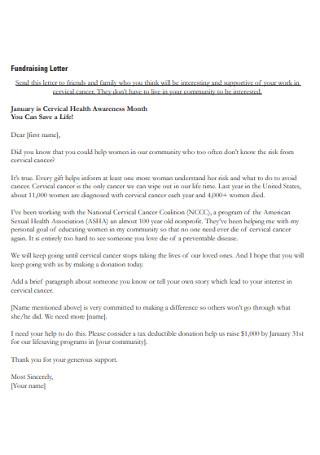 Formal Fundraising Letter