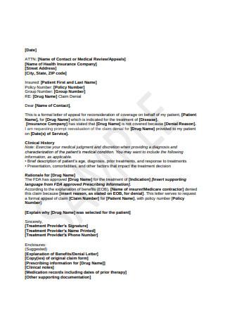 Formal Letter of Appeal