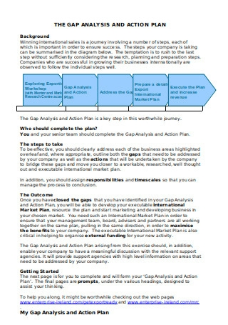Gap Analysis Action Plan