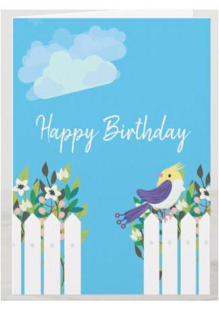 Garden Happy Birthday Card