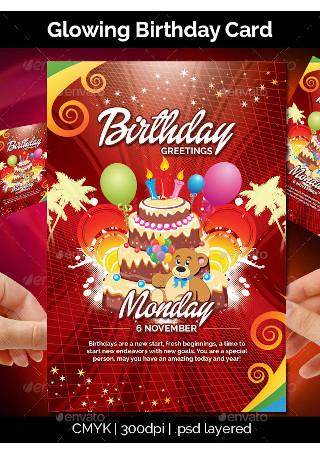 Glowing Birthday Card