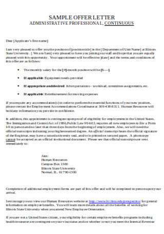 HR Administrative Cover Letter