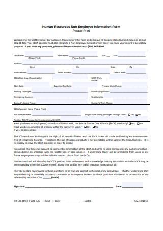 HR Non Employee Information Form