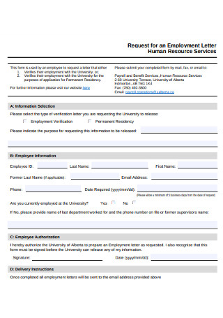 HR Services Employment Cover Letter
