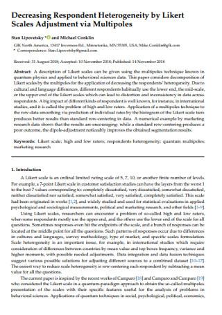 Heterogeneity by Likert Scale