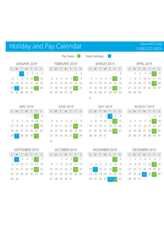 Holiday and Pay Calendar