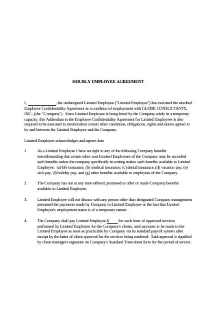 Hourly Employee Agreement