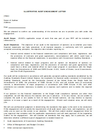 Illustrative Audit Engagement Letter