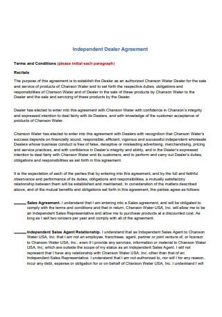 Independent Dealer Agreement