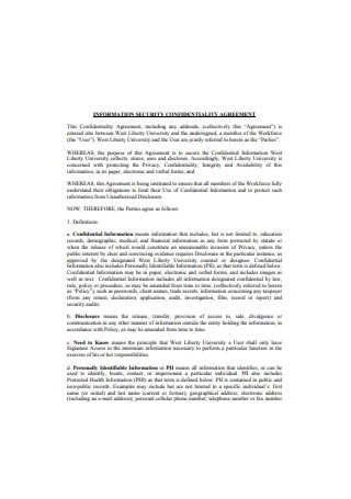 Information Security Confidentiality Agreement
