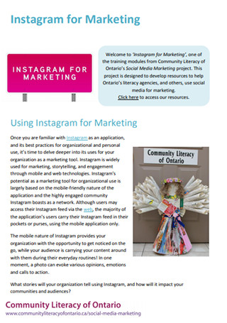 Instagram for Marketing Traning Module Sample