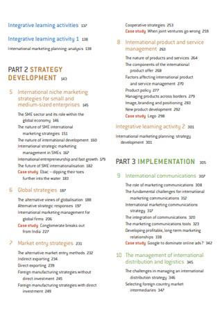 International Marketing Strategy Booklet Sample