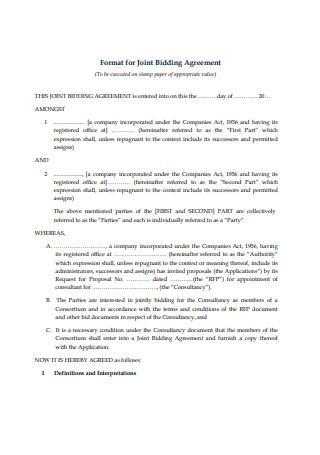 Joint Bidding Agreement