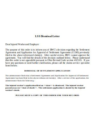LSS Dismissal Letter