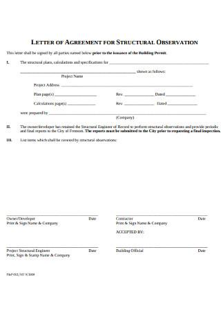 Letter of Agreement for Structural Observation