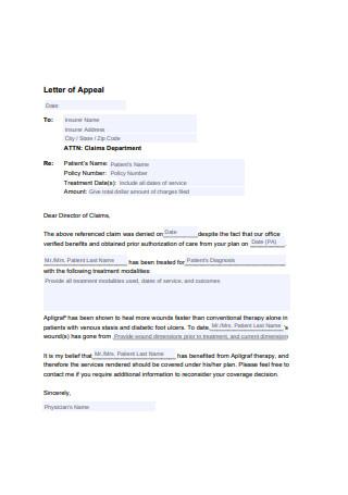 Letter of Appeal Format