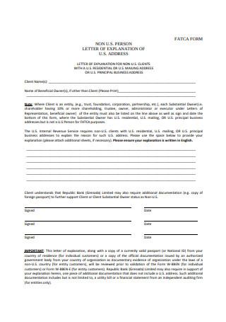 Letter of Explanation Format