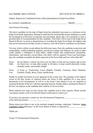 Letter of Recommendation for Rank