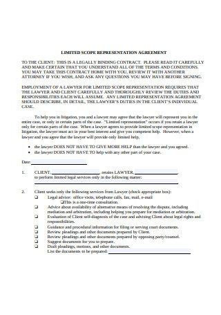 Limited Scope Representation Agreement