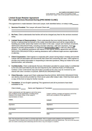 Limited Scope Retainer Agreement