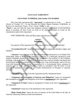 Loan Sale Agreement