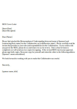 MOU Cover Letter