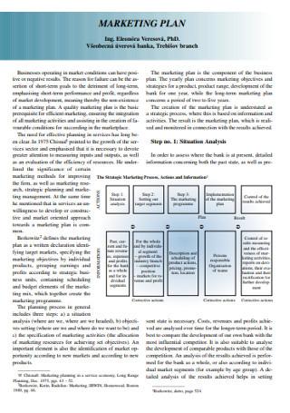 Marketing Economic Plan