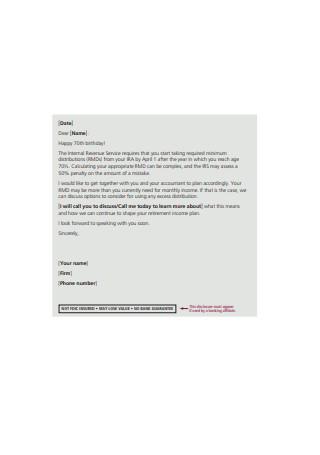 Marketing Prospecting Letter