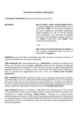 Master Custodian Agreement