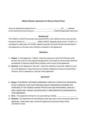 Medical Retainer Agreement