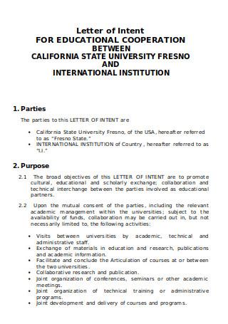 Memorandum of Academic Cooperation