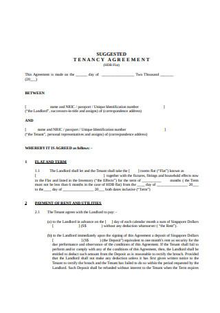 Model Tenancy Agreement
