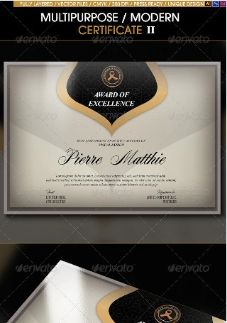 Multipurpose Modern Certificate