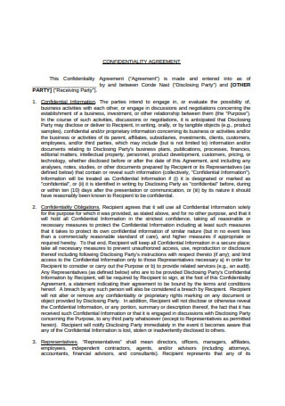 Mutual Confidentiality Agreement Sample