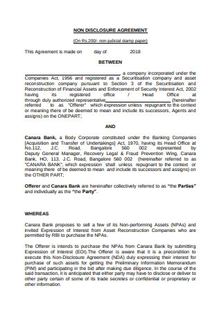 Non Disclosure Agreement Format1