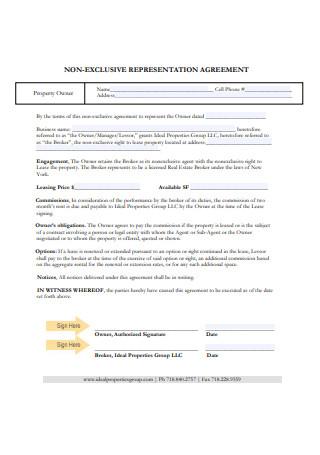 Non Exclusive Representation Agreement