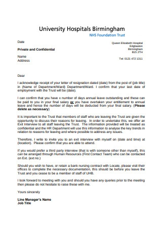 Nurse Resignation Letter Format