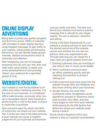 Online Marketing Strategies Samples