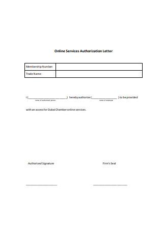 Online Services Authorization Letter