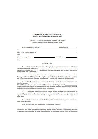Owner Architect Agreement