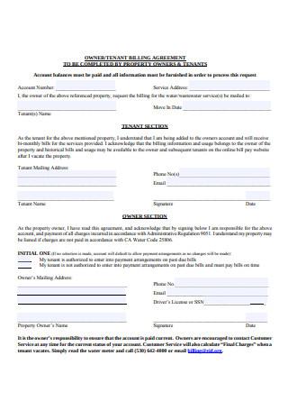 Owner Billing Agreement