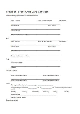Parent Child Care Contract