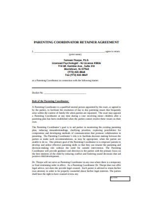 Parenting Coordinator Retainer Agreement
