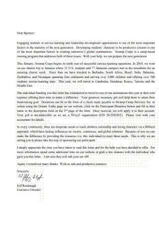 Participant Donation Letter